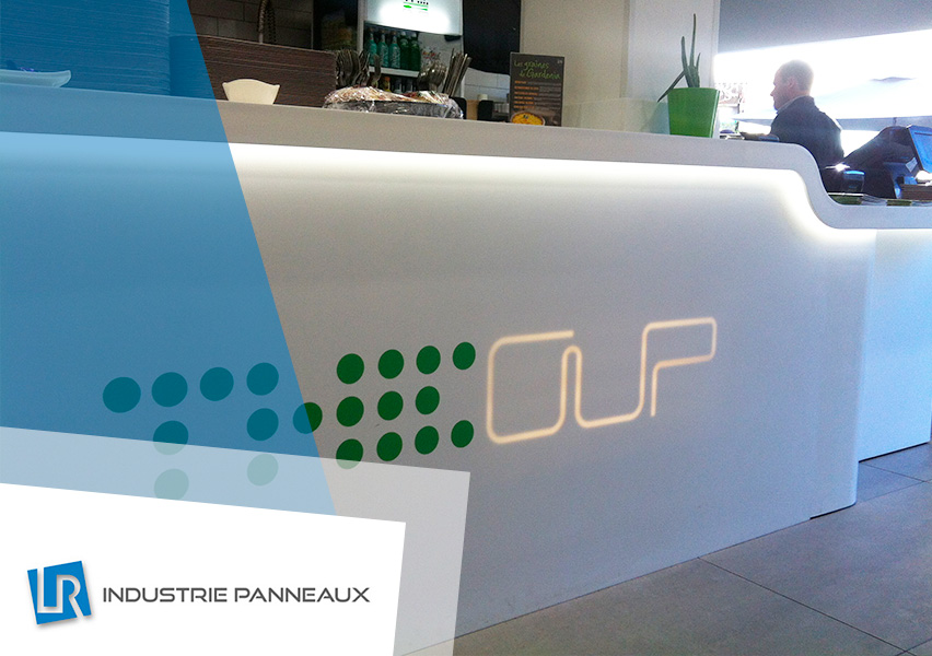 Agencement en PLV réalisation LR industrie panneaux