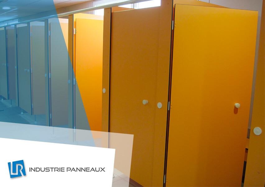 Aménagement sanitaire en PLV réalisation LR industrie panneaux