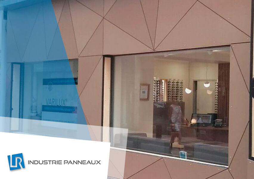 façade bâtiment magasin d'optique LR industrie panneaux