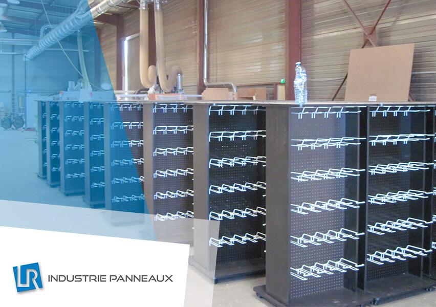 Meuble en PLV réalisation LR industrie panneaux